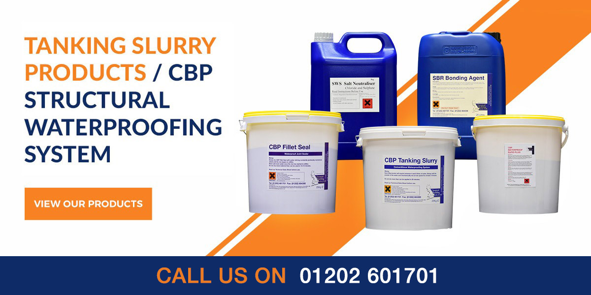Tanking Slurry products from Chembuild